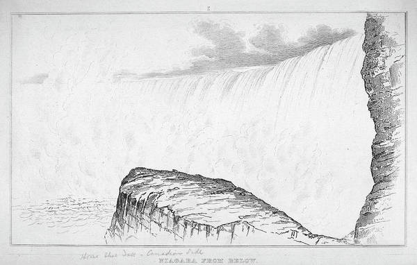 1880 Drawing - Niagara Falls, C1880 by Granger