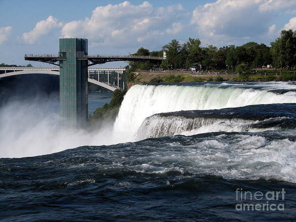 Photograph - Niagara Falls Closeup And Observation Tower by Rose Santuci-Sofranko
