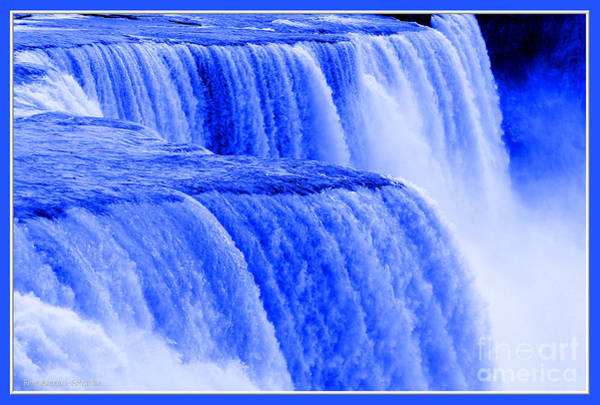 Photograph - Niagara Falls Closeup In Blue by Rose Santuci-Sofranko