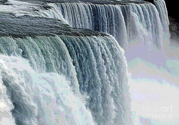 Photograph - Niagara Falls Closeup Topography Effect by Rose Santuci-Sofranko