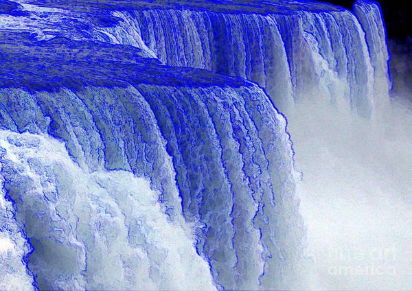 Photograph - Niagara Falls Colored Edges Effect by Rose Santuci-Sofranko