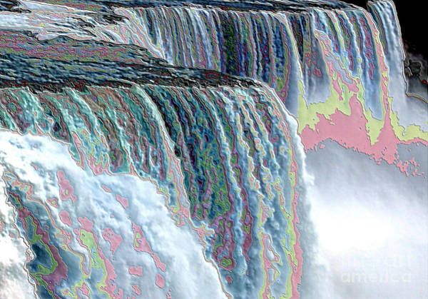 Photograph - Niagara Falls Enameled Effect by Rose Santuci-Sofranko
