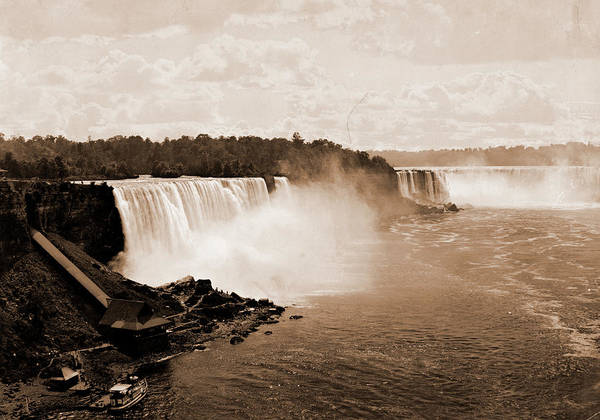 Steel Drawing - Niagara Falls From Steel Arch Bridge, Jackson, William by Litz Collection