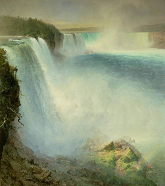 Wall Art - Painting - Niagara Falls, From The American Side, 1867 by Frederic Edwin Church