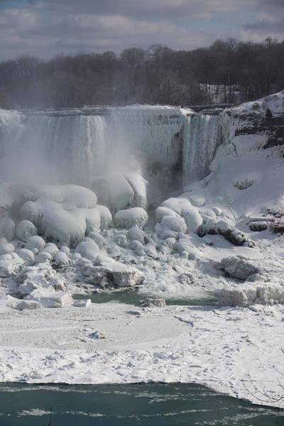 Niagara Falls Ice Buildup - American Falls New York State U S A Art Print