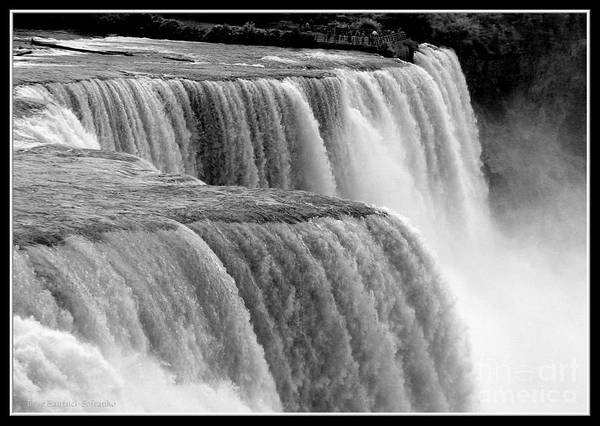 Photograph - Niagara Falls In Black And White by Rose Santuci-Sofranko