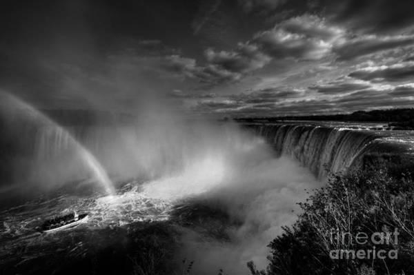 The Maid Photograph - Niagara Falls In Mono by Rob Hawkins