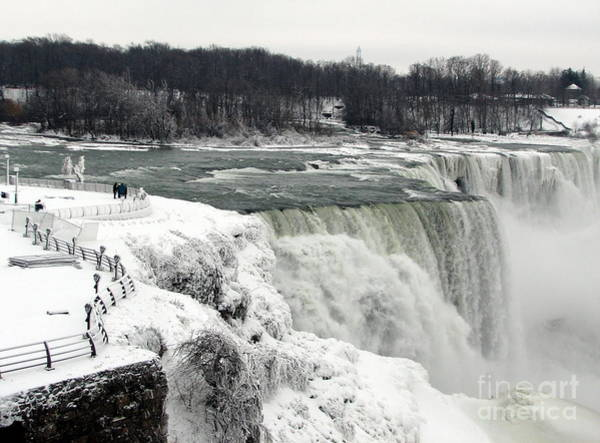 Photograph - Niagara Falls In Winter 0f 2014 Partially Frozen Over by Rose Santuci-Sofranko