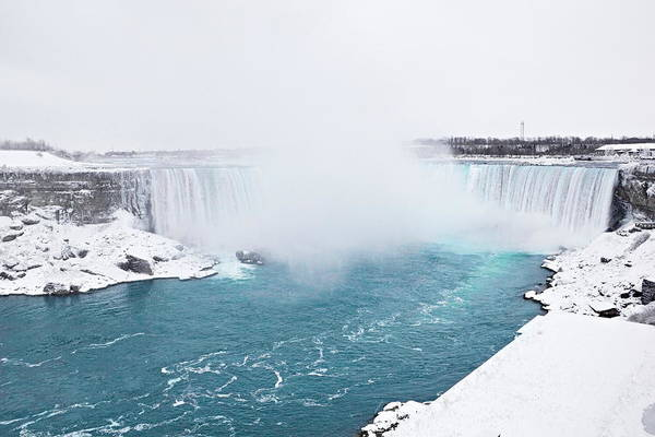 Photograph - Niagara Falls Misty Winter Wonderland by Simply  Photos