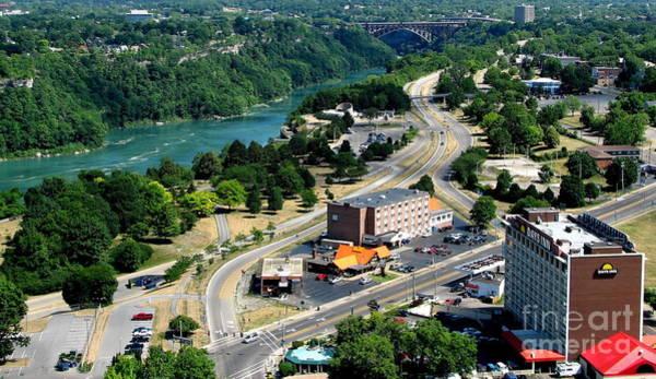Photograph - Niagara Falls New York And Canada And Rainbow Bridge by Rose Santuci-Sofranko