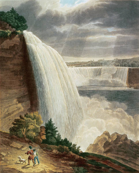 Beam Drawing - Niagara Falls by HJ Bennett