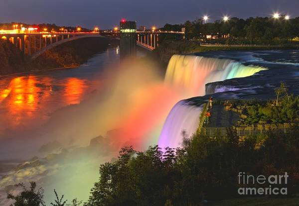 Niagara Falls State Park Photograph - Niagara Falls Prospect Point Rainbow by Adam Jewell