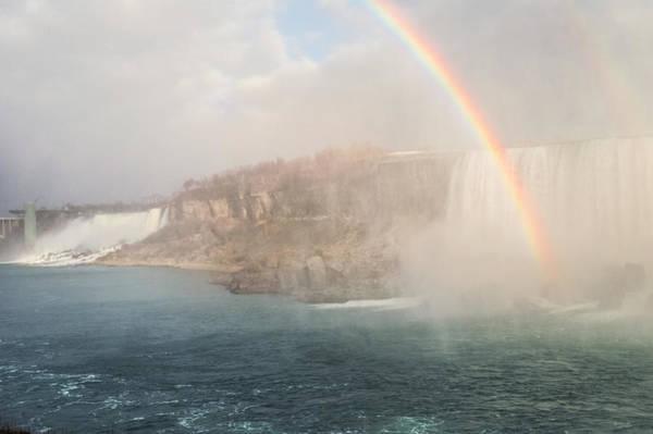 Photograph - Niagara Falls Rainbow by Garvin Hunter