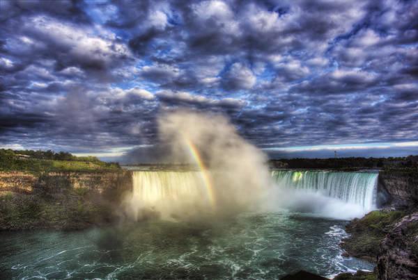 The Horseshoe Wall Art - Photograph - Niagara Falls Rainbow by Shawn Everhart