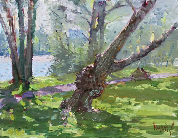 Niagara Painting - Niagara Falls State Park by Ylli Haruni