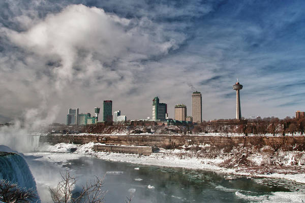 Photograph - Niagara Falls The City 4534 by Guy Whiteley