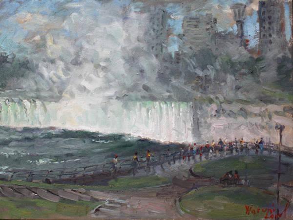 Niagara Painting - Niagara Falls by Ylli Haruni
