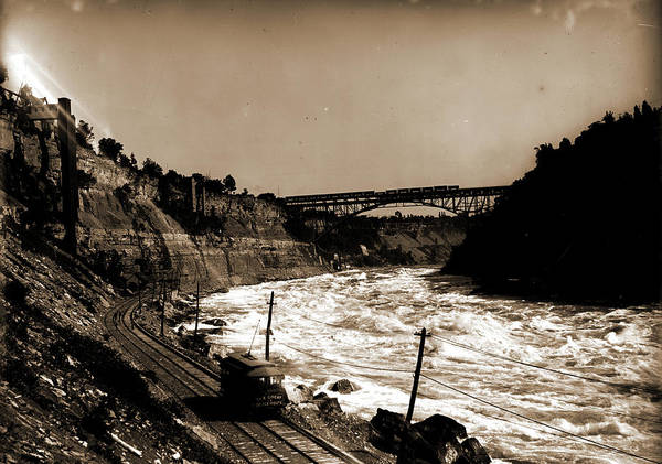 Michigan Drawing - Niagara Gorge With Michigan Central Cantilever Bridge by Litz Collection