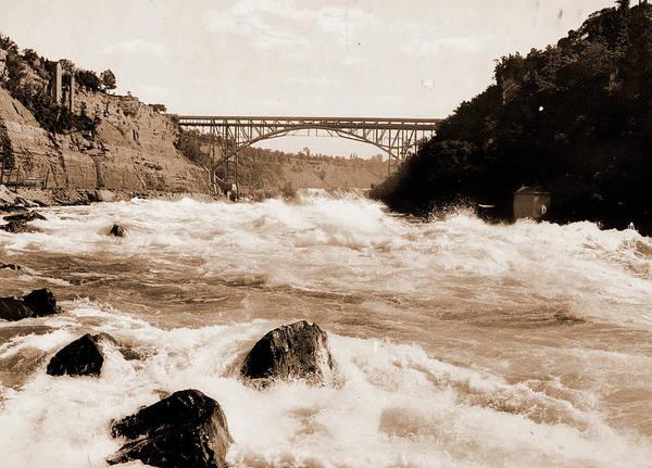 Michigan Drawing - Niagara Rapids And Michigan Central Cantilever Bridge by Litz Collection