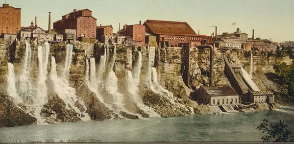 Diverted Wall Art - Photograph - Niagara Water Mills, Early 20th Century by Science Photo Library