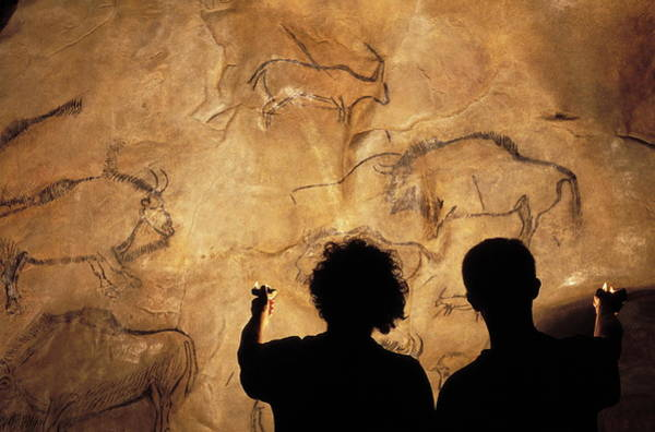 Oil Lamp Photograph - Niaux Cave Paintings by Pascal Goetgheluck/science Photo Library
