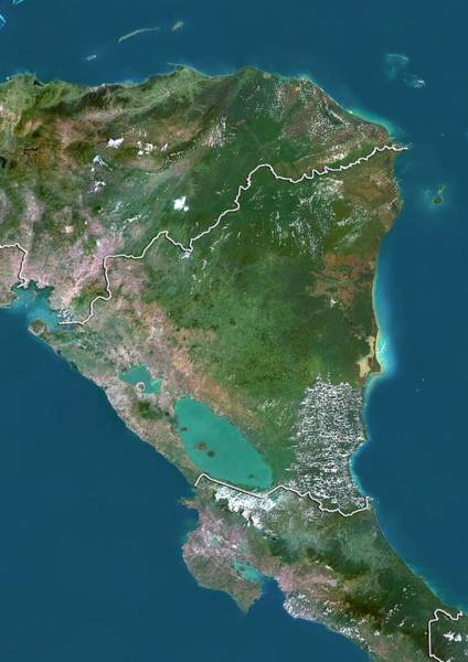 Landsat 7 Wall Art - Photograph - Nicaragua by Planetobserver/science Photo Library