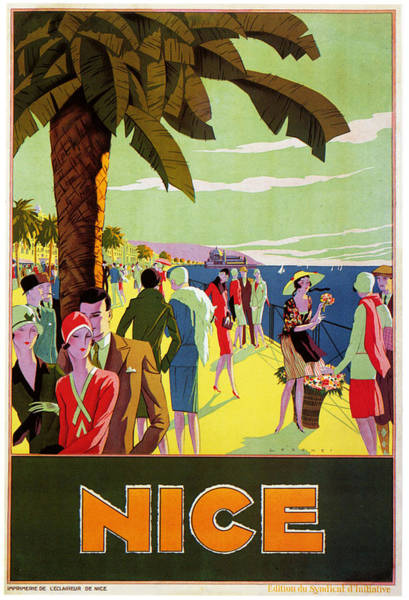 South Beach Digital Art - Nice 1926 by Georgia Fowler