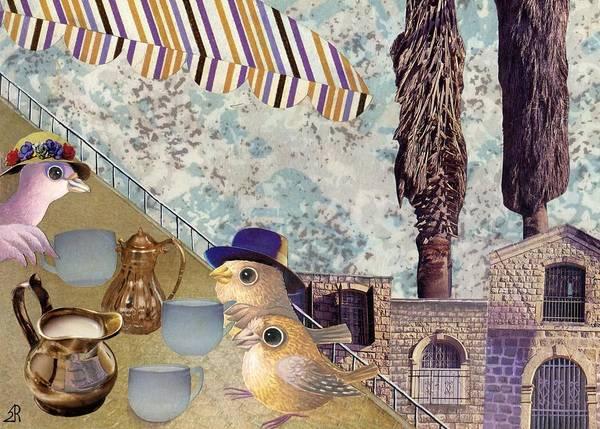 Sparrow Mixed Media - Nice Cups Of Tea by Nekoda  Singer