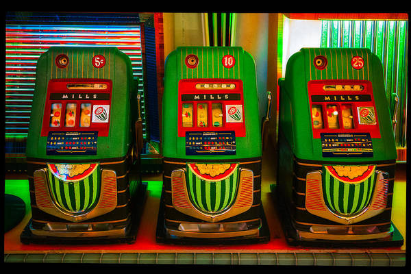 Photograph - Nickel Dime Quarter Slots by Robert FERD Frank