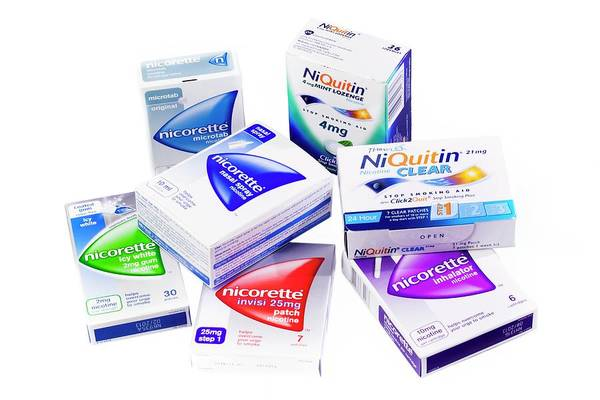 Addictive Photograph - Nicotine Replacement Products by Saturn Stills/science Photo Library