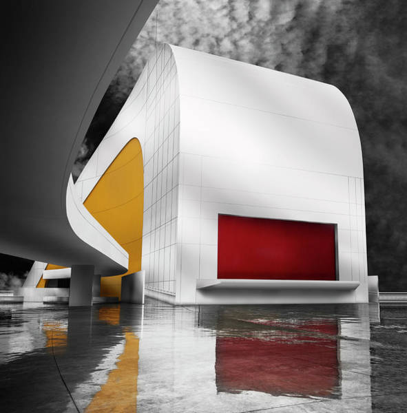 Selective Color Photograph - Niemeyer Center (avila?s, Spain) by Artistname