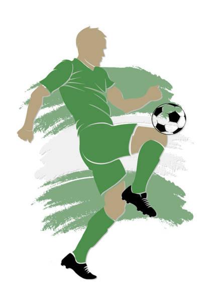 Nigeria Wall Art - Photograph - Nigeria Soccer Player by Joe Hamilton