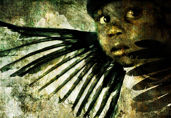 Digital Art - Night Angel by Nada Meeks