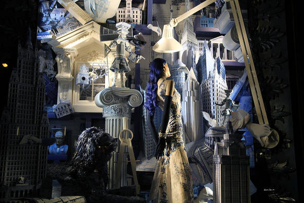 Wall Art - Photograph - Night At Bergdorf Goodman's Department Store 4 - Christmas Window 2014 by Madeline Ellis