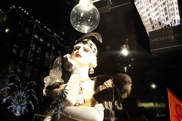Wall Art - Photograph - Night At Bergdorf Goodman's Department Store 5 - Christmas Window 2014 by Madeline Ellis