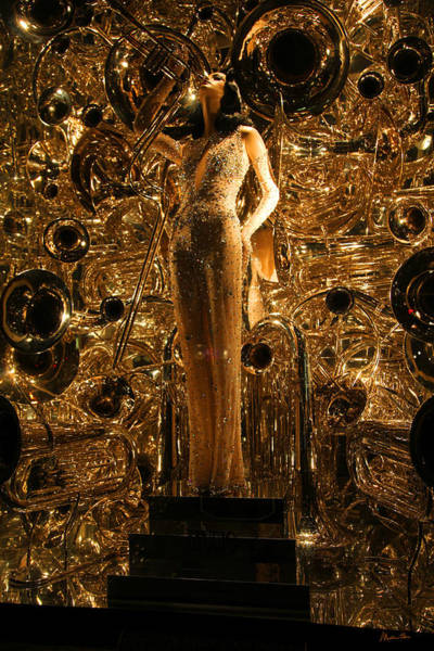 Wall Art - Photograph - Night At Bergdorf Goodman's Department Store 2 - Christmas Window 2014 by Madeline Ellis
