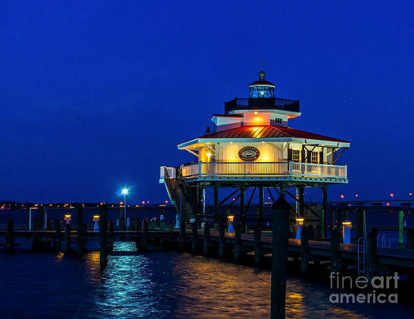 Photograph - Night At Choptank River Lighthouse  by Nick Zelinsky