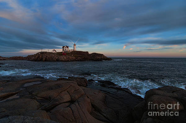 Photograph - Night At Nubble Light by Sharon Seaward