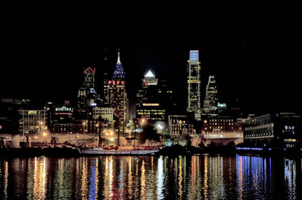 Wall Art - Photograph - Night At Penn's Landing - Philadelphia by Bill Cannon