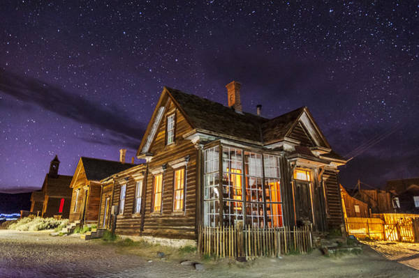 Bodie Ghost Town Wall Art - Photograph - Night At The Cain House by Cat Connor