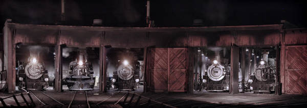 K-36 Photograph - Night At The Durango Roundhouse by Ken Smith