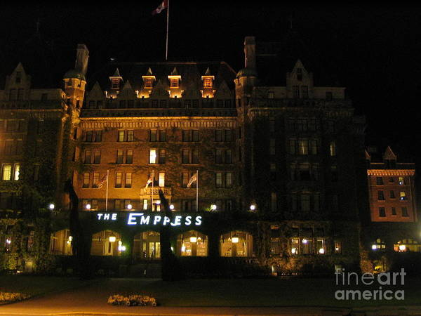 Photograph - Night At The Empress Hotel by Vivian Martin