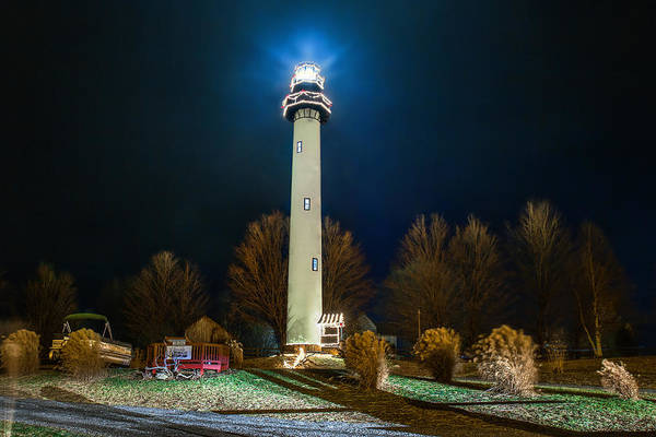 Photograph - Night At The Lighthouse by Mary Almond