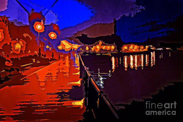 Photograph - Night At Verny Park By Yokosuka Bay by Beverly Claire Kaiya