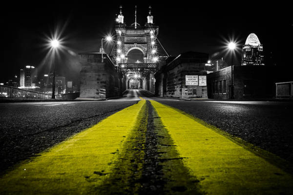 Photograph - Night Bridge by Keith Allen