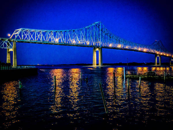 Photograph - Night Bridge by Louis Dallara