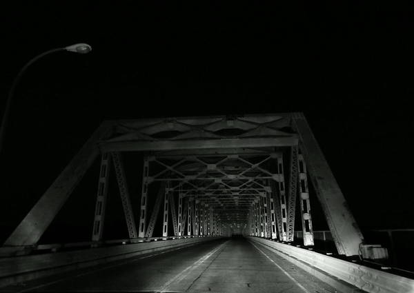 Photograph - Night Bridge by Wild Thing