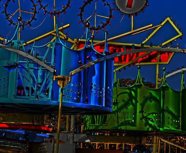Photograph - Night Carnival Ride by Lesa Fine