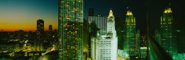 Wall Art - Photograph - Night Chicago Il Usa by Panoramic Images