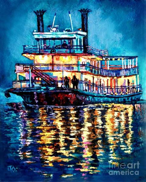 Slate Painting - Night Cruise by Lisa Tygier Diamond